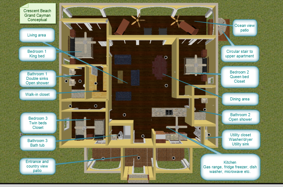 Crescent Beach apartment layout
